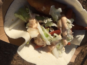 Fish taco from Global Gourmet