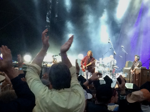The iPhone is not the ideal camera in this situation, but – Tom Petty!