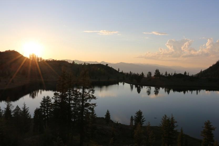 lake near sunset