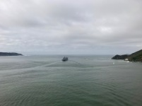 Leaving the bay